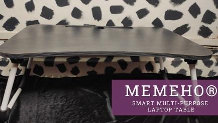 MemeHo-Smart-Standard-Multi-Purpose-Laptop-Table-with-Dock-StandStudy-TableBed-TableFoldable-and-PortableErgonomic-Rounded-EdgesNon-Slip-LegsEngineered-Wood-Black