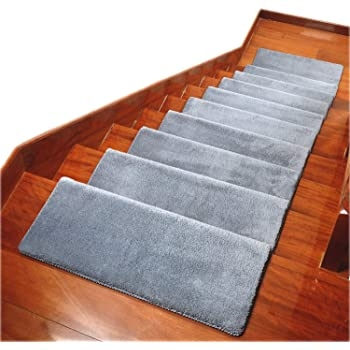 Carpet Stair Treads Anti Slip Stair Mats Made Of Cotton And Fiber | Installing Carpet Stair Treads | Anti Slip | Bullnose Carpet | Stair Risers | Indoor Stair | Wooden Stairs