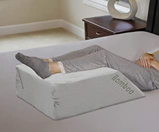 """InteVision Ortho Bed Wedge Pillow with a, Removable Cover (8"""" x 21"""" x 24"""").."""