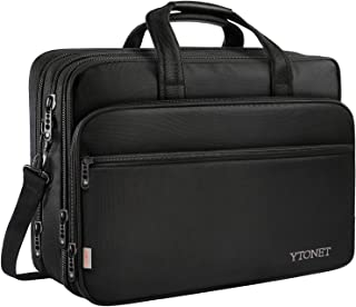 17 inch Laptop Bag, Travel Briefcase with Organizer, Expandable Large Hybrid Shoulder..