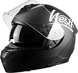 Westt Storm X – Full Face Motorcycle Helmet with Dual Visor DOT Approved…