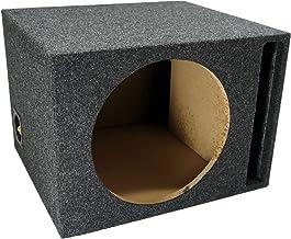 "Car Audio Single 12"" Vented Subwoofer Stereo Sub Box Ported Enclosure 5/8"" MDF"