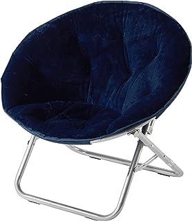 Urban Shop Faux Fur Saucer Chair, Navy – Amazon Exclusive