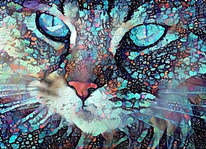 Amazon Com Blue Eyes Cat Face Pet Portrait Fine Art Print Abstract Colorful Wall Decor Poster 8 5 X 11 Handmade Products