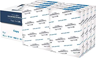Hammermill 20lb Copy Paper, 8.5 x 11, 8 Ream Case, 4,000 Sheets, Made in USA, Sustainably..