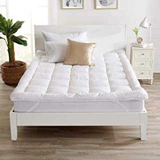 Extra Thick Hypoallergenic Mattress Topper. Breathable Down Alternative Featherbed...