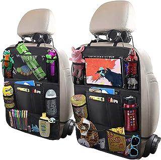 "ULEEKA Car Backseat Organizer with 10"" Table Holder, 9 Storage Pockets Seat Back.."