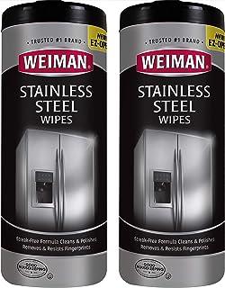 Weiman Stainless Steel Cleaner Wipes (2 Pack) Fingerprint Resistant, Removes Residue,..