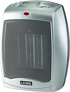 Lasko Ceramic Portable Space Heater, Silver 754200