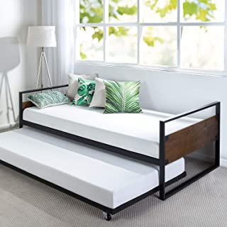 Zinus Suzanne Twin Daybed and Trundle Frame Set,OLB-IRDBS-39,Brown,2