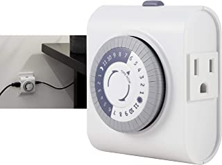 GE 24-Hour Heavy Duty Indoor Plug-in Mechanical Timer, 2 Grounded Outlets, 30 Minute..