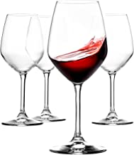 Paksh Novelty Italian Red Wine Glasses – 18 Ounce – Wine Glass Clear (Set of 4)