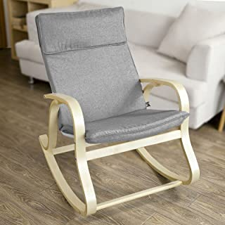 Haotian FST15-DG, Comfortable Relax Rocking Chair, Lounge Chair Relax Chair with Cotton..