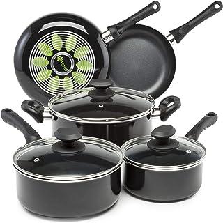 Ecolution Artistry Nonstick Cookware Set Pots and Pans, Dishwasher Safe, Scratch..