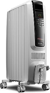 De'Longhi Oil-Filled Radiator Space Heater, Quiet 1500W, Adjustable Thermostat, 3..