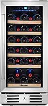 Kalamera 15 Inch Wine Refrigerator Cooler 31 Bottle Built-in or Freestanding with..
