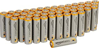 AmazonBasics 48 Pack AA High-Performance Alkaline Batteries, 10-Year Shelf Life, Easy to..