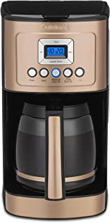 Cuisinart DCC-3200CP PerfecTemp Programmable Glass Carafe Coffeemaker, 14 Cup, Copper