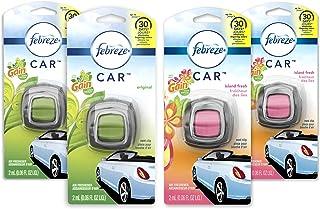 Febreze Car Air Freshener Vent Clips, 2 Gain Original and 2 Gain Island Fresh Scents,..
