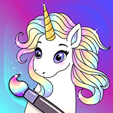 English learning for kids is one of the advantages of the app. More than 100+ amazing unicorn images and pony images for glitter colors! All the colors are with shining glitter effect. Look how your pictures will come alive while you painting them. U...