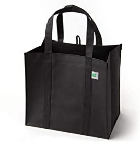 Reusable Grocery Bags (5 Pack, Black) - Hold 40+ lbs - Extra Large & Super Strong, Heavy Duty Shopping Bags - Grocery Tote...