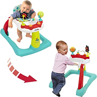 Kolcraft Tiny Steps 2-in-1 Infant & Baby Activity Walker – Seated or Walk-Behind, Jubliee
