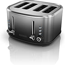 BLACK+DECKER 4-Slice Extra-Wide Slot Toaster, Stainless Steel, Ombré Finish,..