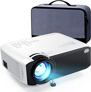 "Mini Projector, APEMAN 4500L Brightness 180"" Display Projector [Carry Case.."