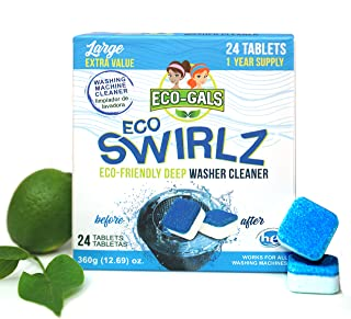 Eco-Gals Eco Swirlz Washing Machine Cleaner, 24 Count, 1 Year Supply