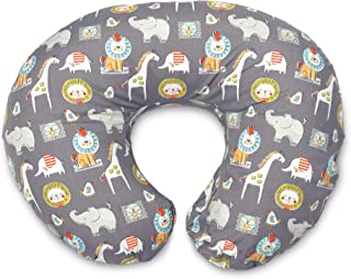 Boppy Original Nursing Pillow and Positioner, Sketch Slate Gray, Cotton Blend Fabric with..