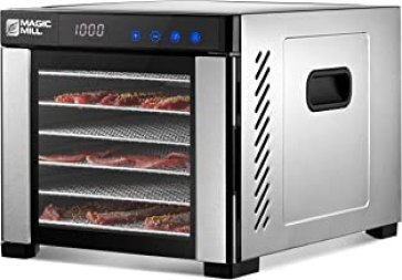 Magic Mill Commercial Food Dehydrator Machine | 7 Stainless Steel Trays | Adjustable Timer, Temperature Control | Dryer fo...