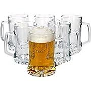 MamboCat 6tlg. Vivalto - Set di Bicchieri da Birra con Manico, 380 ml, per Oktoberfest, Brauerei- & Hoffest I