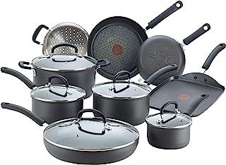 T-fal E918SE Ultimate Hard Anodized Nonstick 14 Piece Cookware Set, Dishwasher Safe Pots..
