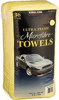 Kirkland Signature Ultra High Pile Premium Microfiber Towels, 36 Count (Pack of 1),..