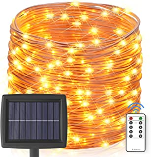 Solar String Lights Outdoor, 60 ft 200 LEDs Fairy Lights Powered by Solar and Battery,..