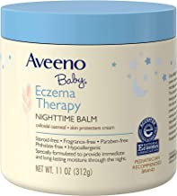 Aveeno Baby Eczema Therapy Nighttime Balm, with natural Colloidal Oatmeal and Dimethicone..