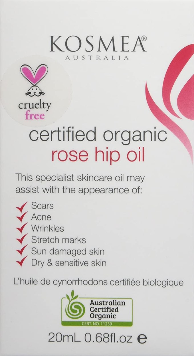Buy Kosmea 100 Certified Organic Rosehip Oil Aco Certified Anti Aging Benefits For Face Body Premium Quality Super Critically Extracted Oil Using The Entire Fruit Seed Skin 0 68