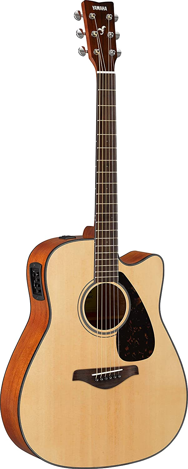 Amazon Com Yamaha Fgx800c Solid Top Cutaway Acoustic Electric Guitar Musical Instruments