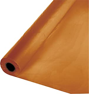 Creative Converting Touch of Color Plastic Table Banquet Roll, 100-Feet, Pumpkin Spice,..