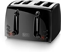BLACK+DECKER 4-Slice Toaster, Extra-Wide, Black, TR1410BD