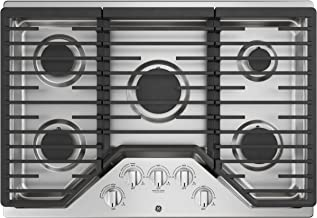 GE JGP5030SLSS 30 Inch Gas Cooktop with Power Boil, Simmer, Continuous Grates, 5 Sealed..