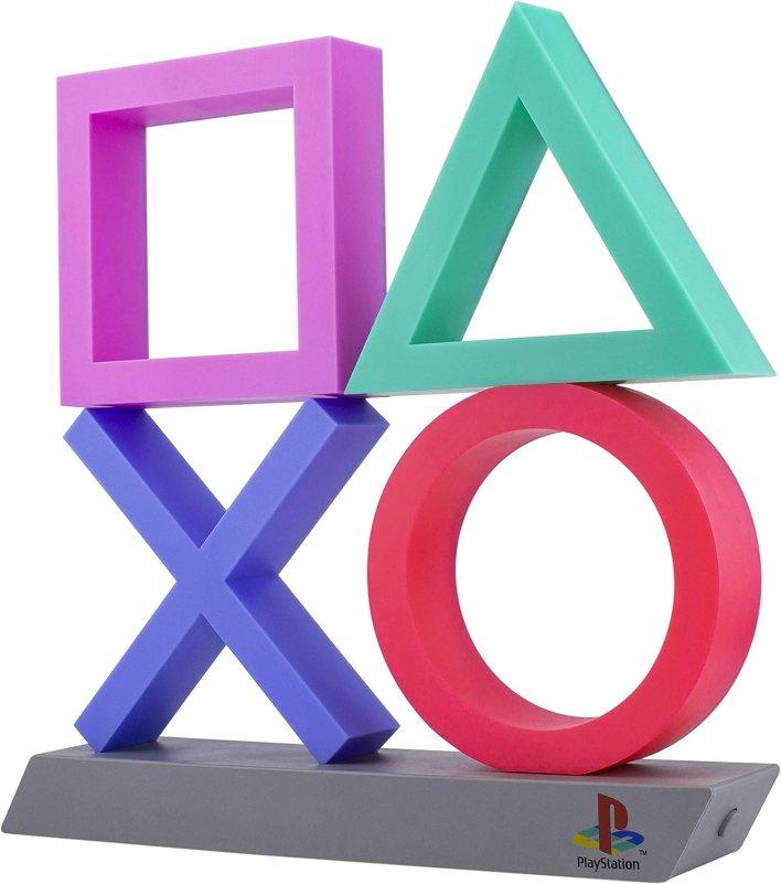 Paladone Playstation Icons XL | 3 modos de iluminación de sala de juegos reactiva | Plástico BDP, respetuoso con el medio ambiente, perfecto para el hogar, oficina y dormitorio, 75 W, multicolor