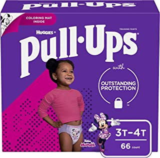 Pull-Ups Girls' Potty Training Pants Training Underwear Size 5, 3T-4T, 66 Ct