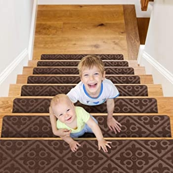Carpet Stair Treads Set Of 13 Non Slip Skid Rubber Runner Mats Or   Elogio Carpet Stair Treads   Carpet Runners   Carpet Flooring   Skid Rubber   Pet Dog   Skid Resistant