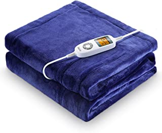 "Heated Blanket, iTeknic Electric Blanket Throw 60""x 50"", 10 Fast Heating.."