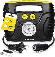 Kensun AC/DC Tire Inflator Portable Air Compressor Pump for Car 12V DC and Home 110V AC..