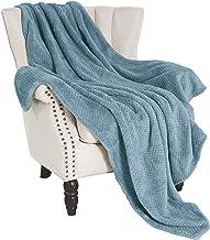 "Exclusivo Mezcla Waffle Flannel Fleece Velvet Plush Large Throw Blanket– 50"" x.."