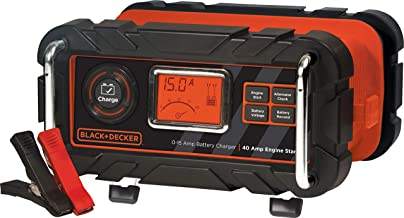 BLACK+DECKER BC15BD Fully Automatic 15 Amp 12V Bench Battery Charger/Maintainer with 40A..