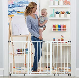 Regalo 56-Inch Extra WideSpan Walk Through Baby Gate, Includes 4-Inch, 8-Inch and 12-Inch..