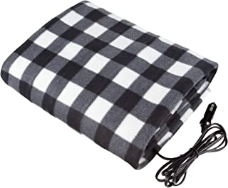 Stalwart – Electric Car Blanket- Heated 12 Volt Fleece Travel Throw for Car and..
